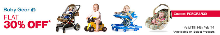 Flat 30% Off on Baby Gears: Firstcry Offer