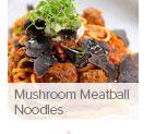 Mushroom Meatball Noodles