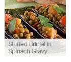 Stuffed Brinjal in Spinach Gravy