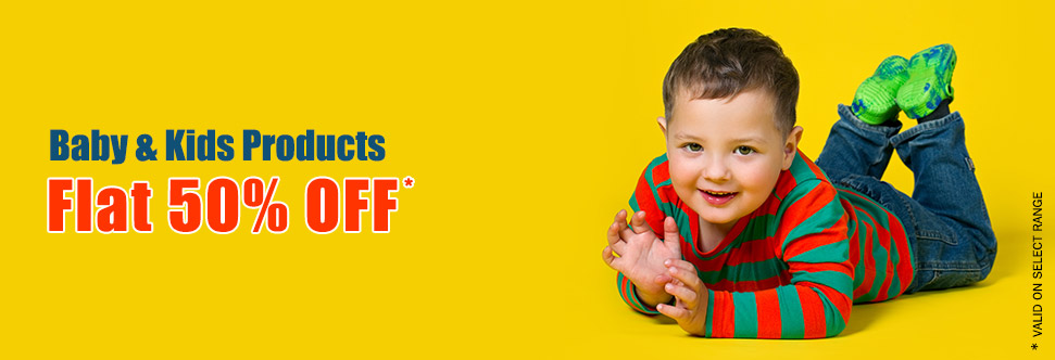 Kids Clothes, Footwear, Toys & Accessories 50% off on Purchase of Rs. 300 – FirstCry