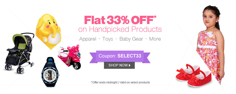 Get Flat 33% OFF on 22000+ products @ Firstcry – Baby Care & Toys