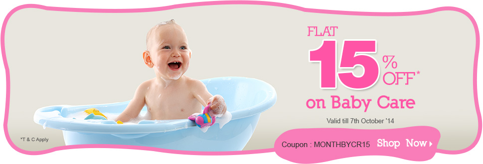 Flat 15% OFF on Baby Care