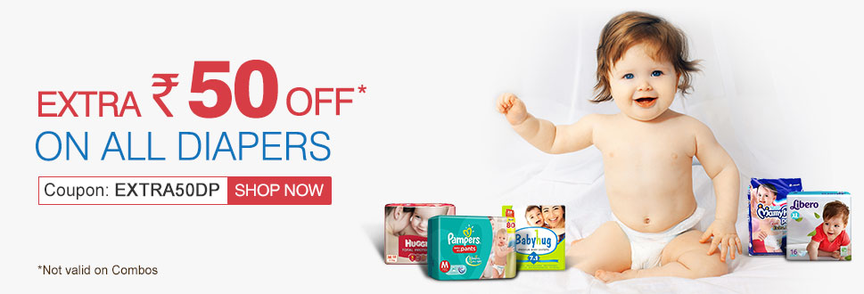 Extra Rs.50 OFF on All Diapers