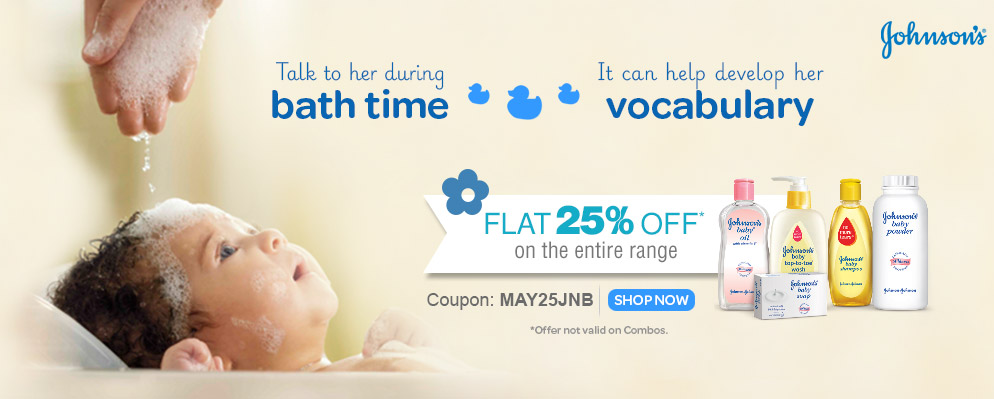 Flat 25% OFF on Entire Johnson's Baby Range @ Firstcry – Rs.176 – Baby Care & Toys