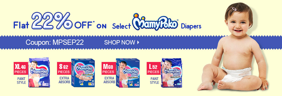 Flat 22% OFF on Mamy Poko Diapers