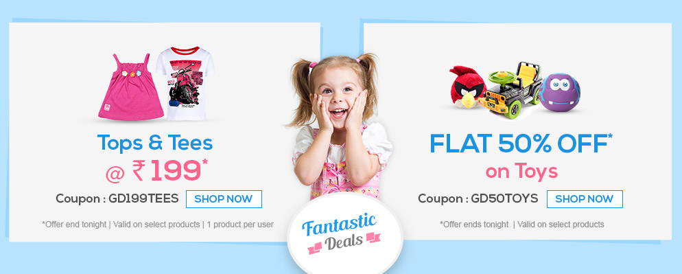 Flat 50% OFF* on Toys @ Firstcry – Baby Care & Toys