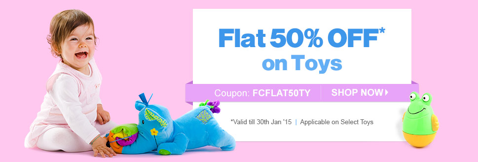 Flat 50% OFF on Toys