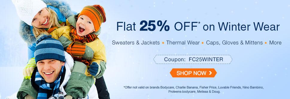 Flat 25% OFF on Winter Essentials