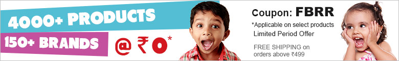 Firstcry  get  products  @   ₹ 0 ,on a min  prurchase of   ₹ 149