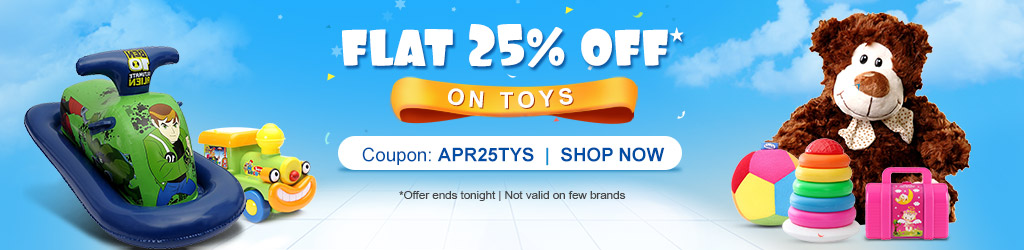 FirstCry: Toys @ Flat 25% OFF + Extra 10% Cashback on paying through MobiKwik Wallet