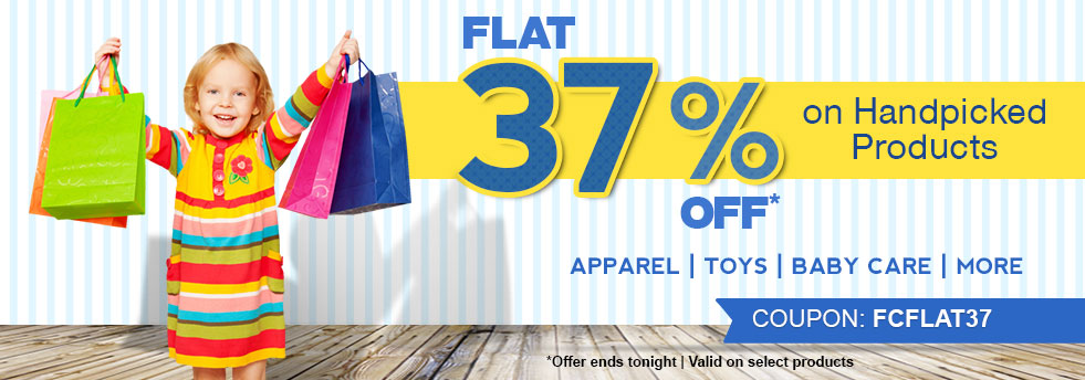 Firstcry : Flat 37% Off On Handpicked Products And 20% Cashback On All Orders