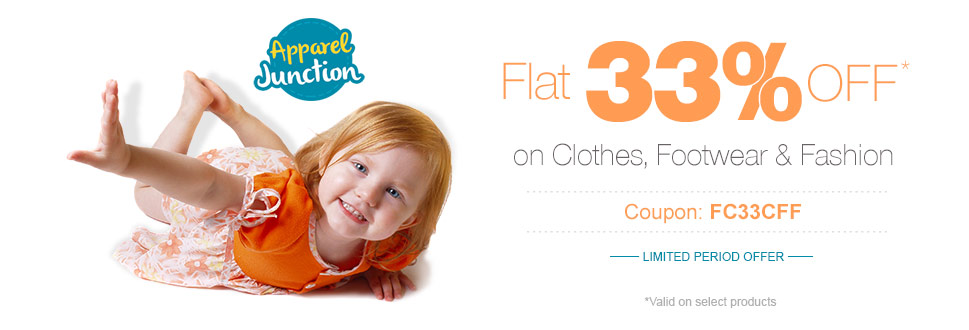 Flat 33% OFF* on Clothes, Footwear & Fashion