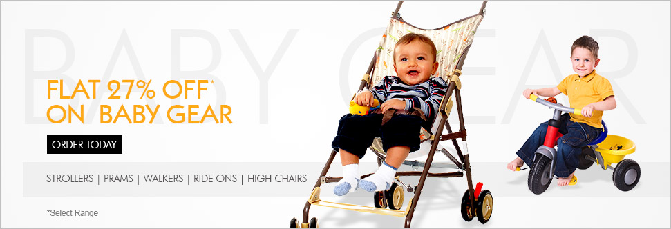 Flat 27% off on Baby Gears | First Cry Offer