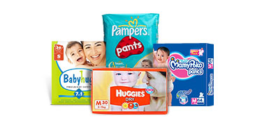 10% Cashback* on All Diapers