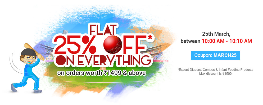 Flat 25% off on Everything