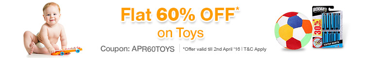 60% OFF on Selected Toys