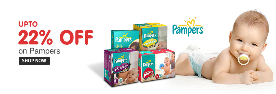 Pampers @ Upto 22% Off