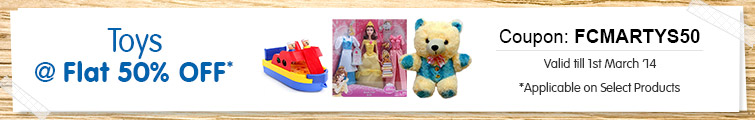 Toys at Flat 50% Off On Purchase of Rs.300 & Above | Firstcry.com Offer