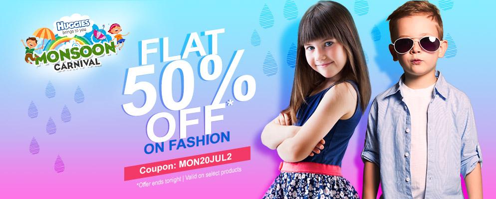 Flat 50% off on Fashion @ Firstcry – Rs.500 – Fashion & Apparels