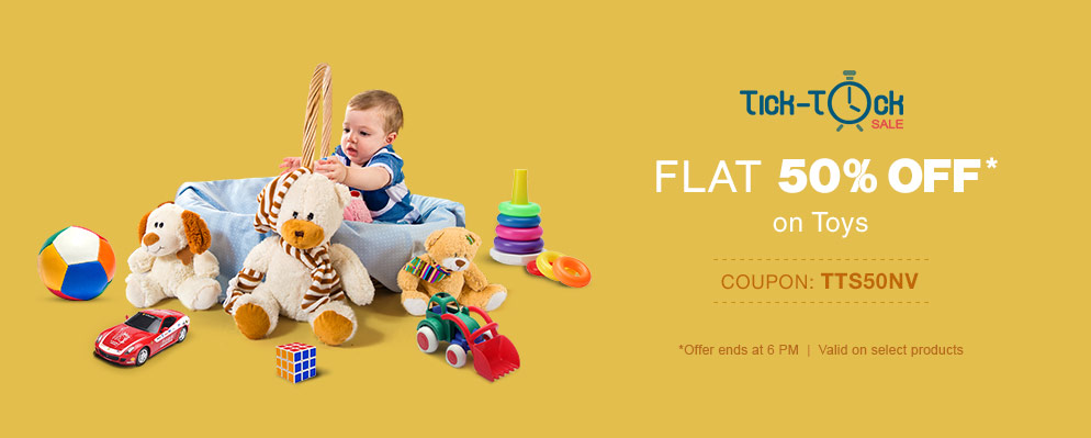 FirstCry Tick Tock Sale On Toys discount offer  image 1