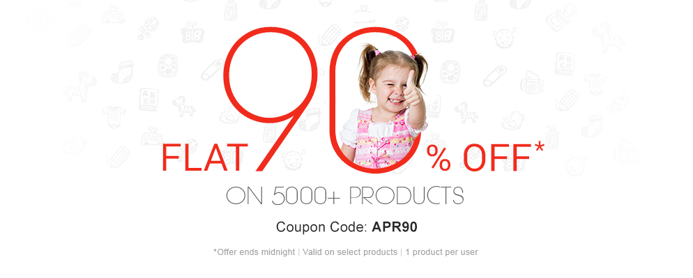 90% OFF on Selected Products