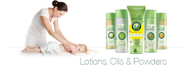 Baby Biotique Lotions, Oils & Powders
