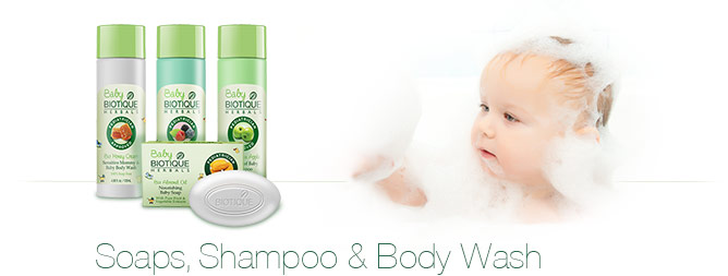 Baby Biotique Soaps, Shampoo & Body Wash