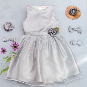Dress your girl in silver