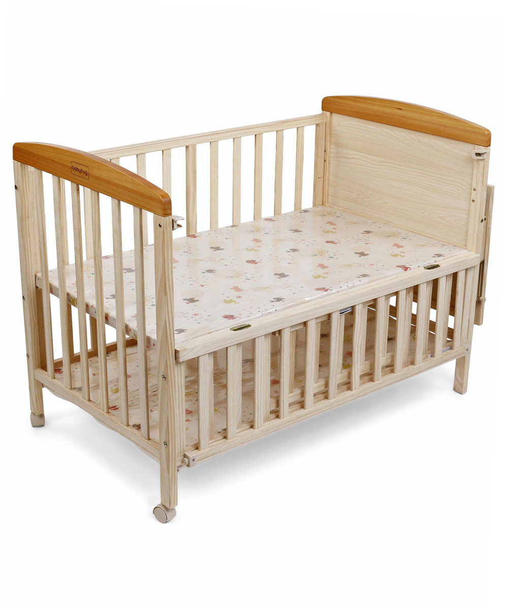 Babyhug Kelly Wooden Cot With Detachable Bassinet Mosquito Net Natural Online In India Buy At Best Price From Firstcrycom 1339711
