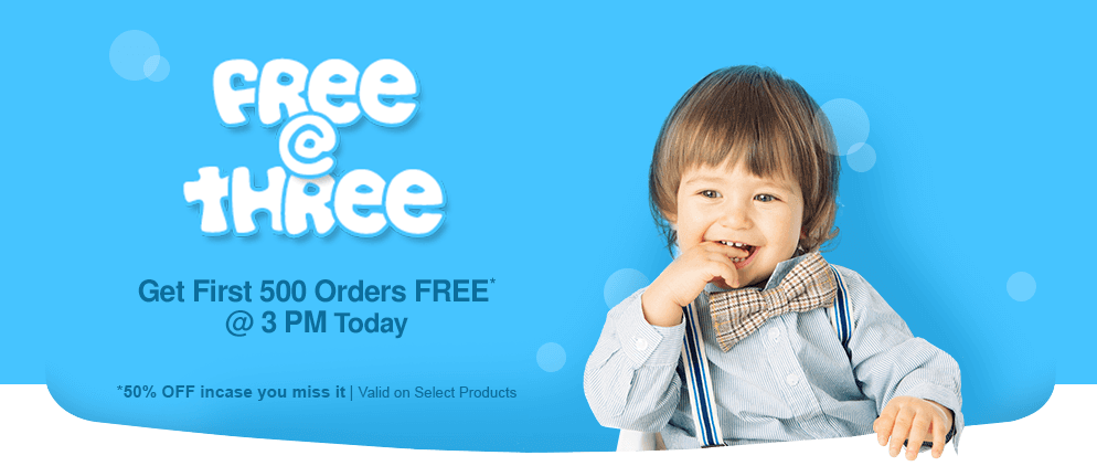FirstCry Free-at-Three Offer