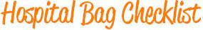 Hospital Bag Pack