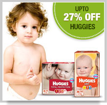 Upto 50% Off on Huggies