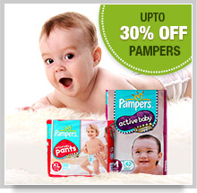 Upto 15% Off on Pampers