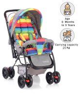Babyhug Cosy Cosmo Stroller - Vibgyor