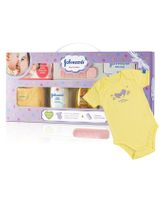 Johnson's baby Care Collection With Organic Cotton Baby Romper - 9 Gift Items