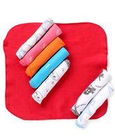 Mee Mee Soft Wash Cloth Pack Of 8 (Colours May Vary)