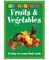 Fruits & Vegetables Flash Cards - English