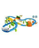 Saffire Kids Big Train With Flyover - Multicolor