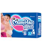 Mamy Poko Pants Pant Style Diapers Large - 8 Pieces