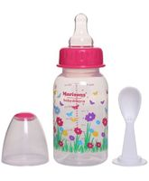 Morisons Baby Dreams Feeding Bottle With Feeder Spoon Pink - 150 ml