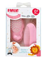 Farlin - Baby Comb and Brush Set - Pink
