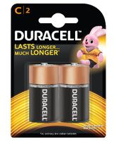 Duracell Alkaline C Batteries - Pack Of 2