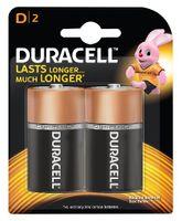 Duracell Alkaline D Batteries - Pack Of 2