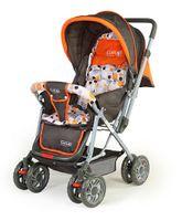 Luv Lap Sunshine Baby Stroller Cum Pram Orange - 18107