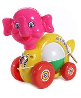Luvely Musical Pull Along Funny Elephant Toy - Multicolor
