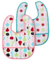 Mee Mee Set Of 2 Baby Bibs Fruits Print - Pink
