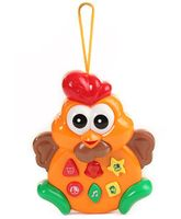 Mee Mee Cute Hen Part Of Two Cute Friends Musical Toy (Color May Vary)