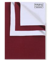 Babyhug Smart Dry Bed Protecting Sheet Maroon - Small