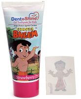 Dentoshine Chhota Bheem Gel Toothpaste For Kids - Strawberry Flavour