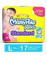 Mamy Poko Standard Pant Style Diapers Large - 17 Pieces